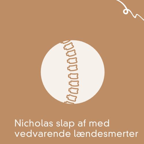 Nicholas slap fri af vedvarende lændesmerter med kropsterapi